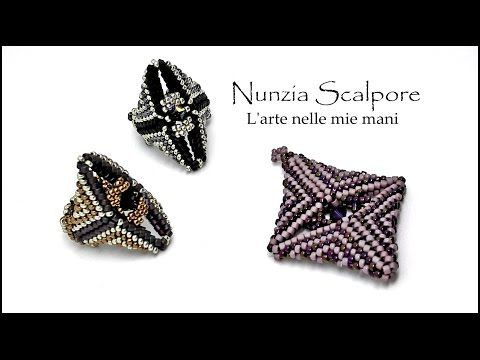 "tutorial anello ""Soraya"" con superduo ( ""Soraya ring"") english subtitles - YouTube"