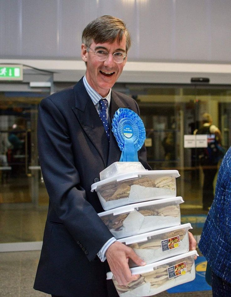 Jacob Rees-mogg Mp Arrives At Election Count With Tupperware Boxes Filled Sandwiches