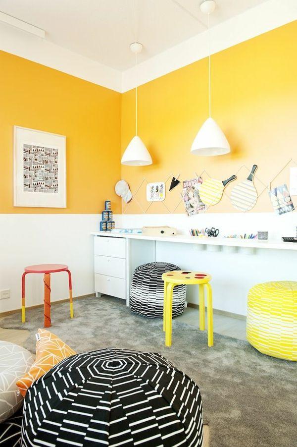 66 best images about farben ? neue trends und frische muster ... - Wandfarbe Kinderzimmer Orange