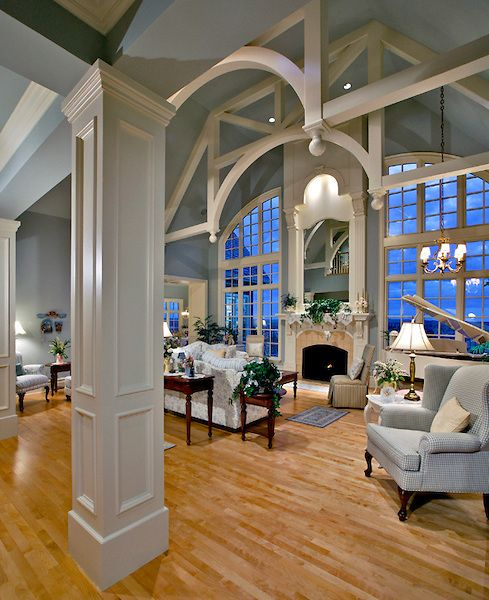 Gorgeous-- want a balcony looking over my living room.. but not as grand as this, tho it is lovely