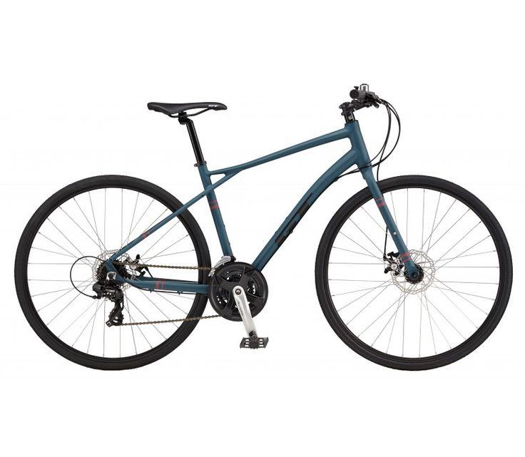 GT Traffic 3.0 700c Flat Bar Road Bike [Steel Blue] (2017) | 99 Bikes