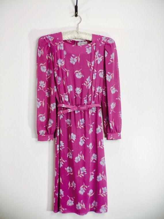 Vintage 1970s Secretary Dress Charlee Allison by 86CharlotteStreet