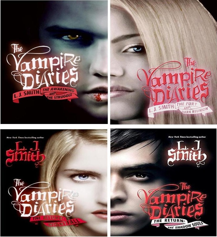The Vampire Diaries by L J Smith.. books were made in to a ...
