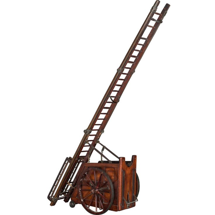 Miniature Retractable Ladder | From a unique collection of antique and modern models and miniatures at https://www.1stdibs.com/furniture/more-furniture-collectibles/models-miniatures/