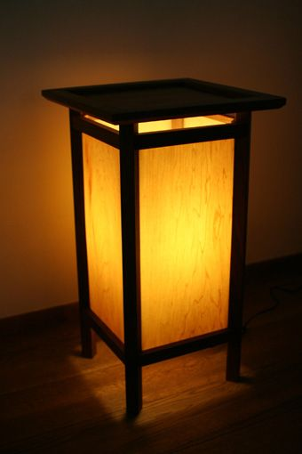 Wooden light stand -andon- by MWC.WORKSHOP, Japan