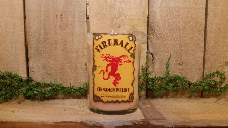 Vanilla caramel creme Fireball whiskey liquor bottle candle Decor, Upcycled liquor Bottle, fireball whiskey Decorations, Whats New Etsy by luckyladydecor on Etsy