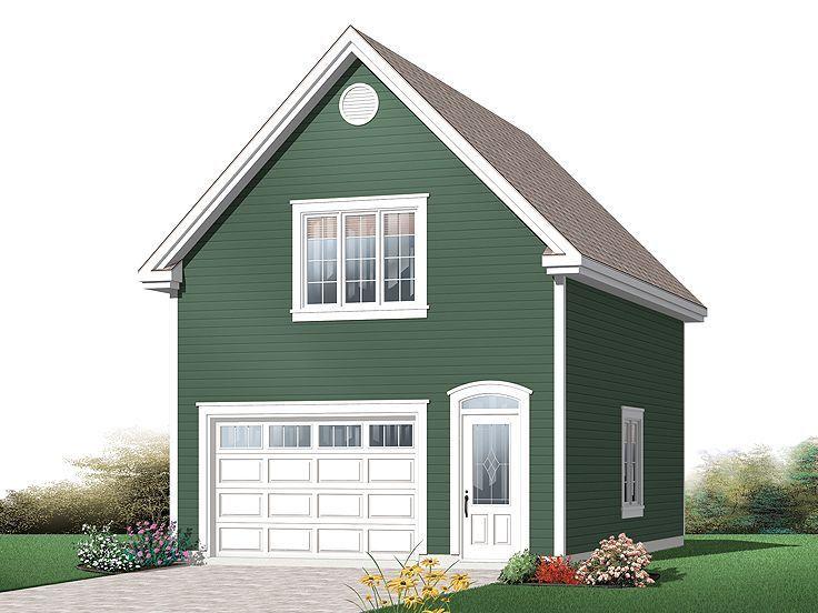 Garage Designs Pinterest: One-Car Garage Plan, 028G-0045