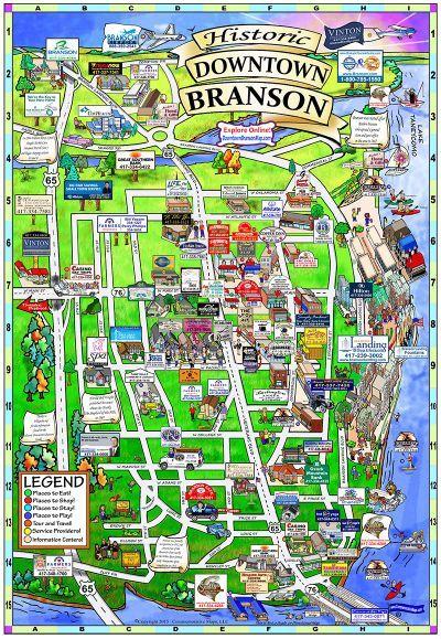 Branson Missouri Map