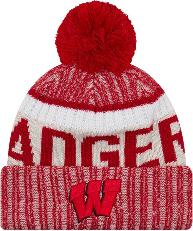 quality design 0f846 285fa New Era Men s Wisconsin Badgers Red Sport Knit Beanie   Products   Knitted  hats, Hats, Knit beanie