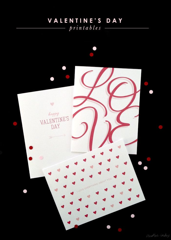 Valentine's Day Printable by Creative Index