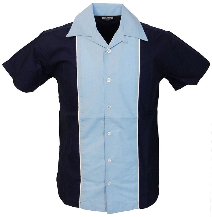 Relco mens rockabilly retro #bowling shirt in blue new short #sleeve #vintage 50s,  View more on the LINK: http://www.zeppy.io/product/gb/2/272276406560/