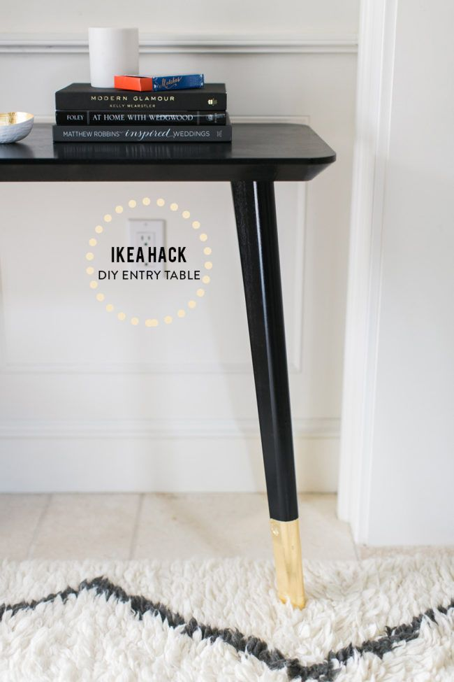 Ikea Hack DIY Entry Table Furniture Pinterest Hacks diy