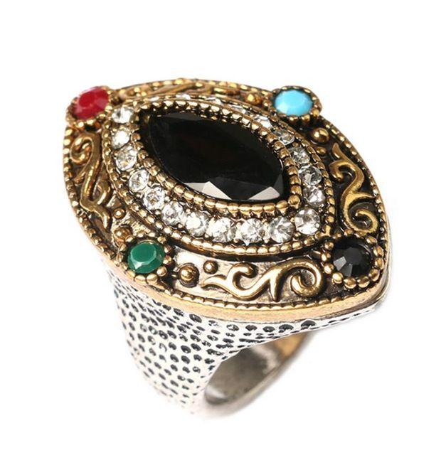 Fashion Vintage Bohemia Ring National Trend Matched Couple Wedding Finger Rings Turkish Zinc Alloy Men Rings