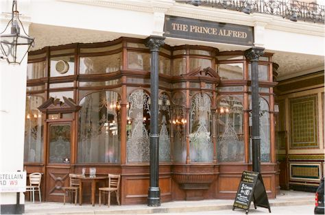 Prince Alfred, pub Maida Vale--Love the architecture!