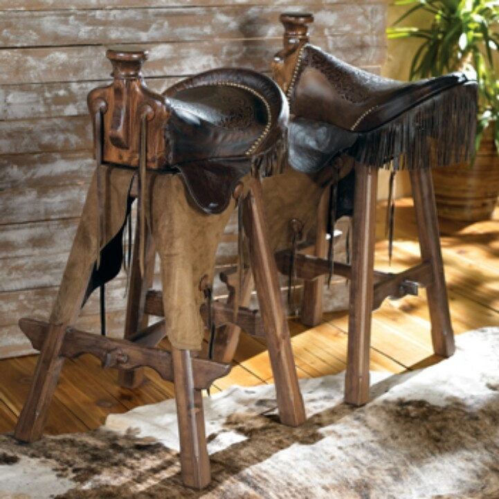 Elegant Horse Saddle Bar Stools