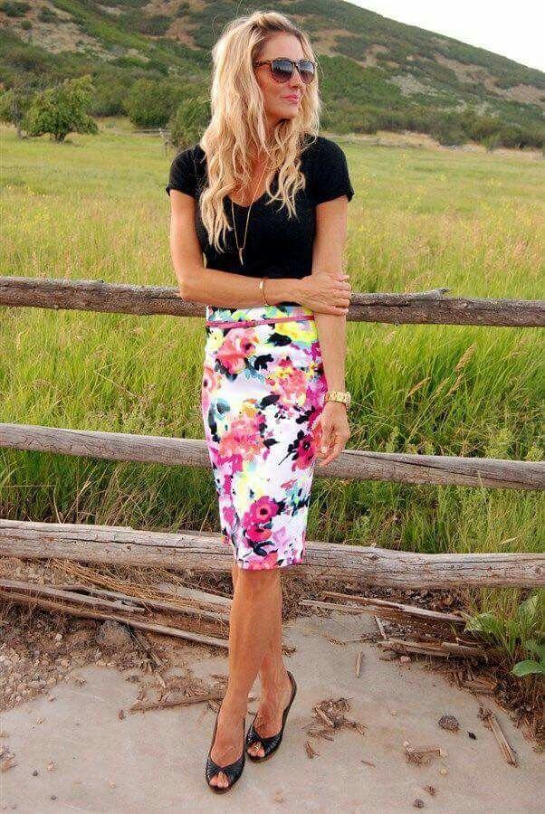 3da855a44 Flower and white skirt