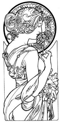 mucha color sheets - Google Search