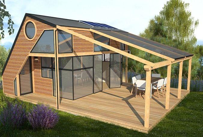 modern house 3d model fbx dae dwg skp mtl 2