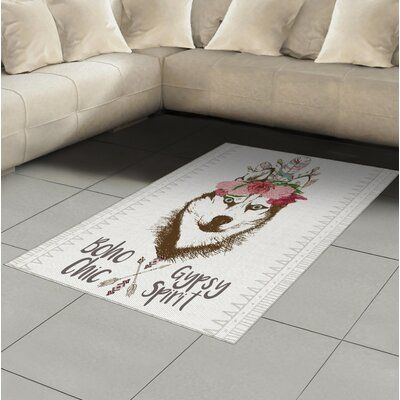 East Urban Home Wolf Brown Area Rug Rug Size: Rectangle 4′ x 5'8″