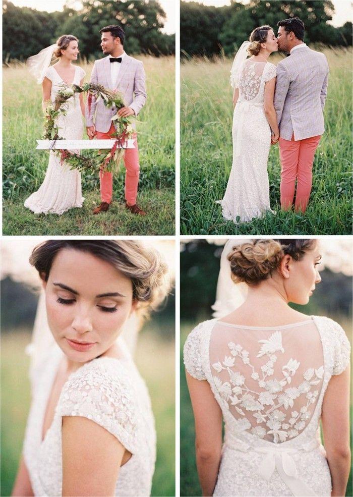 Wedding dress by KAREN WILLIS HOLMES. {The 'Caitlyn' gown}#weddingdress #wedding #bohobride http://www.karenwillisholmes.com