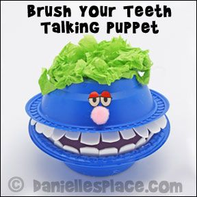 Brush Your Teeth Talking Puppet Craft from www.daniellesplace.com
