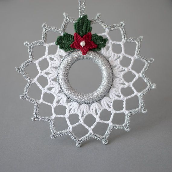 Crochet Christmas wreath Christmas by SevisMagicalStitches on Etsy