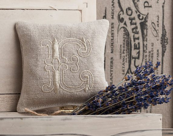 Hey, I found this really awesome Etsy listing at https://www.etsy.com/il-en/listing/119206718/monogrammed-linen-lavender-pillow