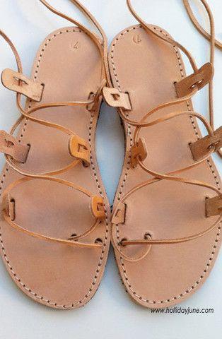 Gladiator Sandals Handmade in Greece