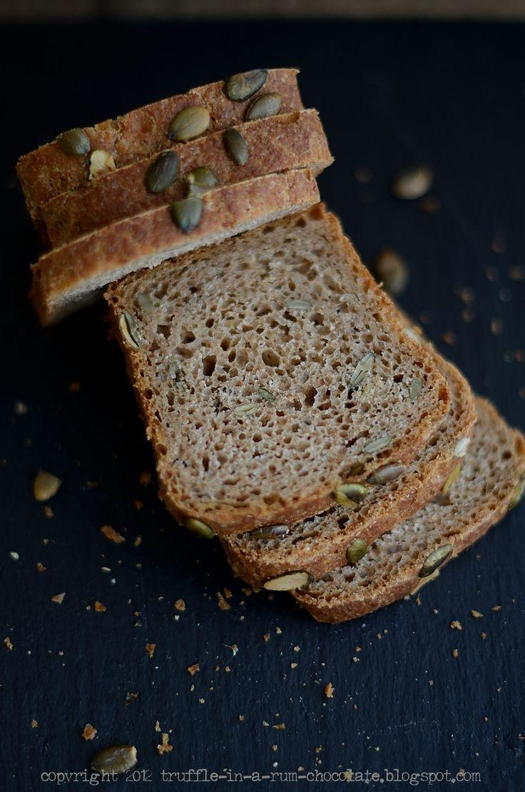 Trufla: Whole grain spelt bread with pumpkin seeds and sun-dried tomato oil.World Bread Day 2012