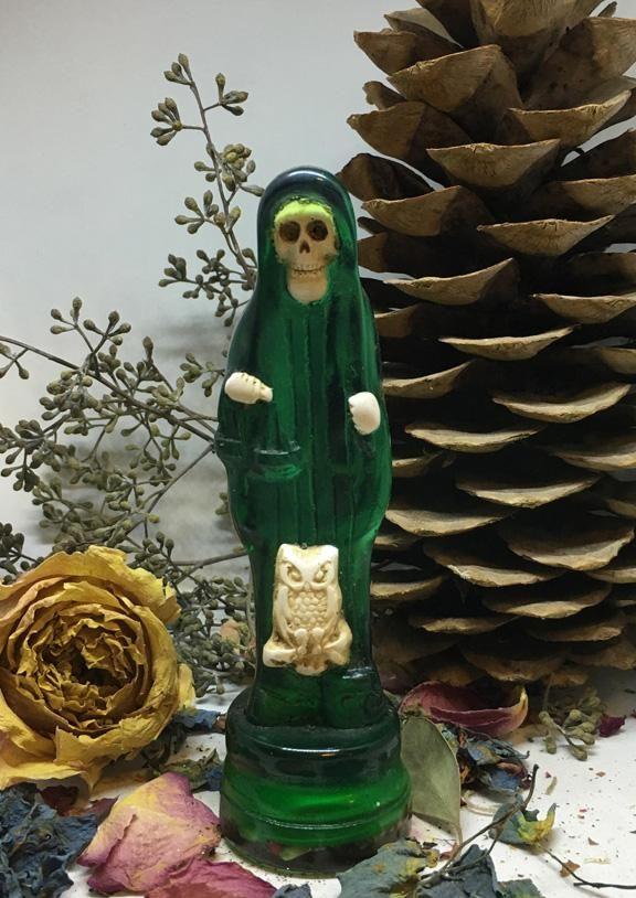 La Santisima Muerte Statue, Attract a Lover, Spirits of the Dead, Promises, Luck