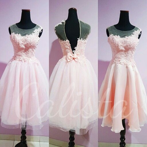 My sweet sweet dress for my lovely client Pink on pink two ways dress