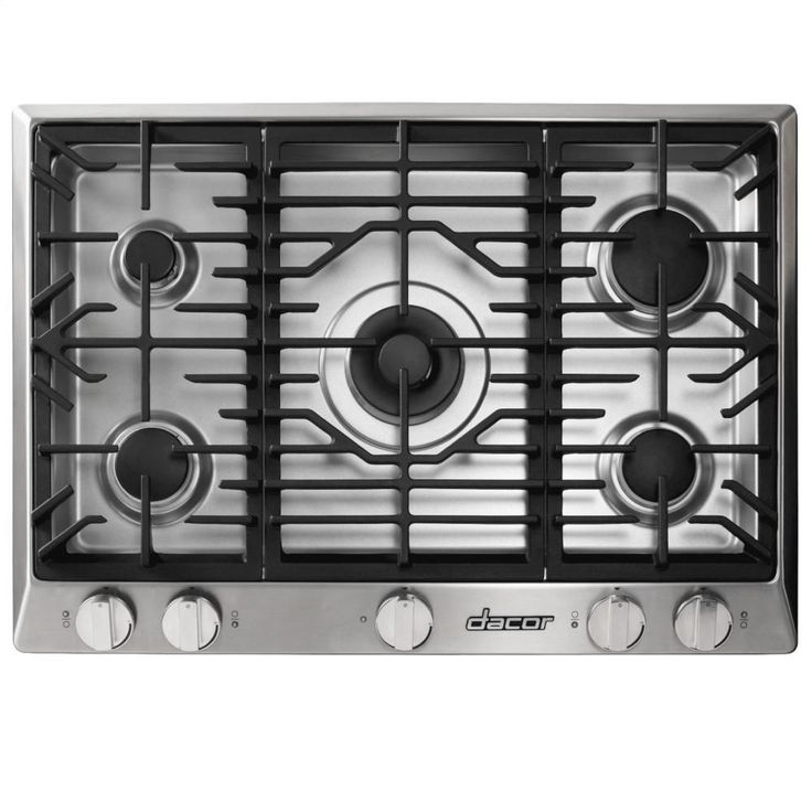 """Dacor Renaissance 36"""" Gas Cooktop Stainless Steel Natural"""
