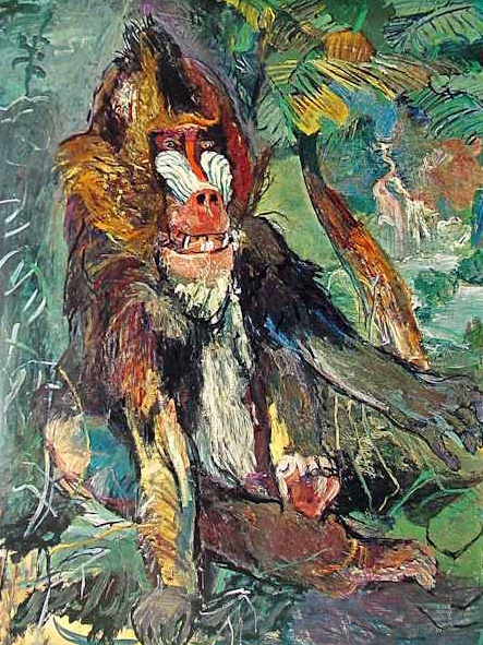 Oskar Kokoschka Baboon