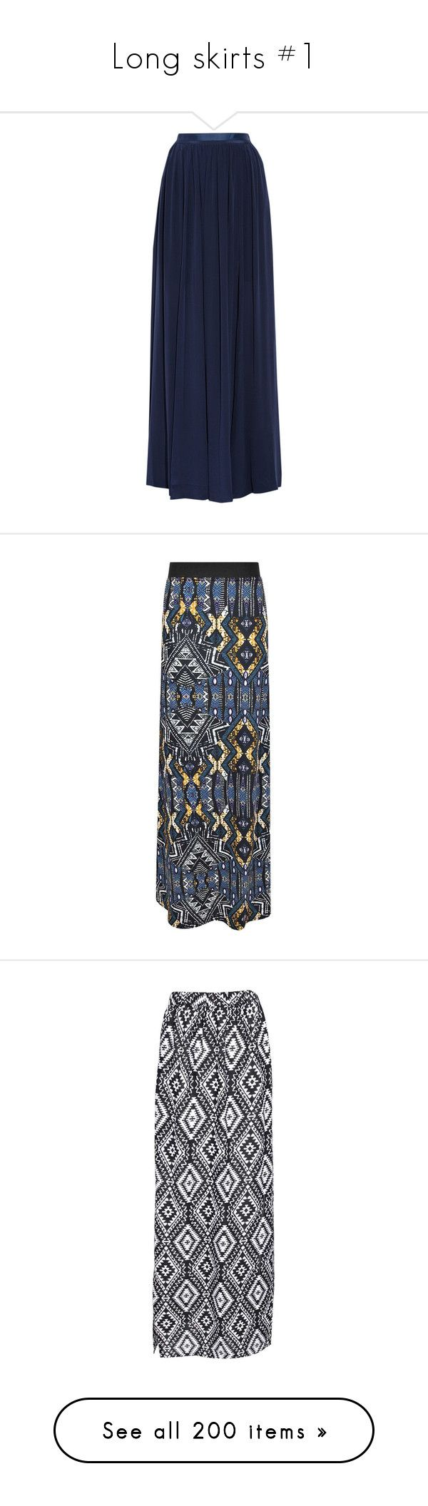"""Long skirts #1"" by loisanne ❤ liked on Polyvore featuring skirts, bottoms, elsa, hameet, storm blue, pleated maxi skirt, blue pleated maxi skirt, silk skirt, long pleated skirt and long maxi skirts"