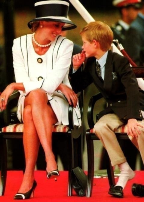 Diana and Harry  What I love most about this is the complete devotion on her face to her son. Heartwarming and why everyone loved her.