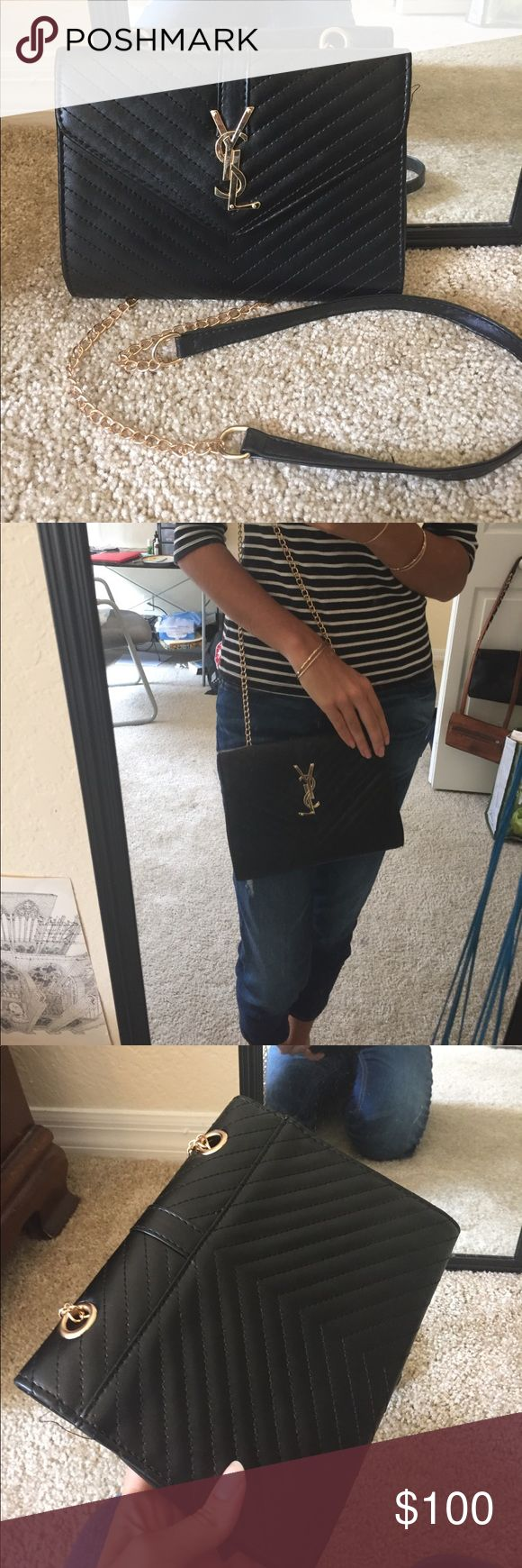 ysl letters black purse brand new bag for sale brand used for exposure Yves Saint Laurent Bags Shoulder Bags