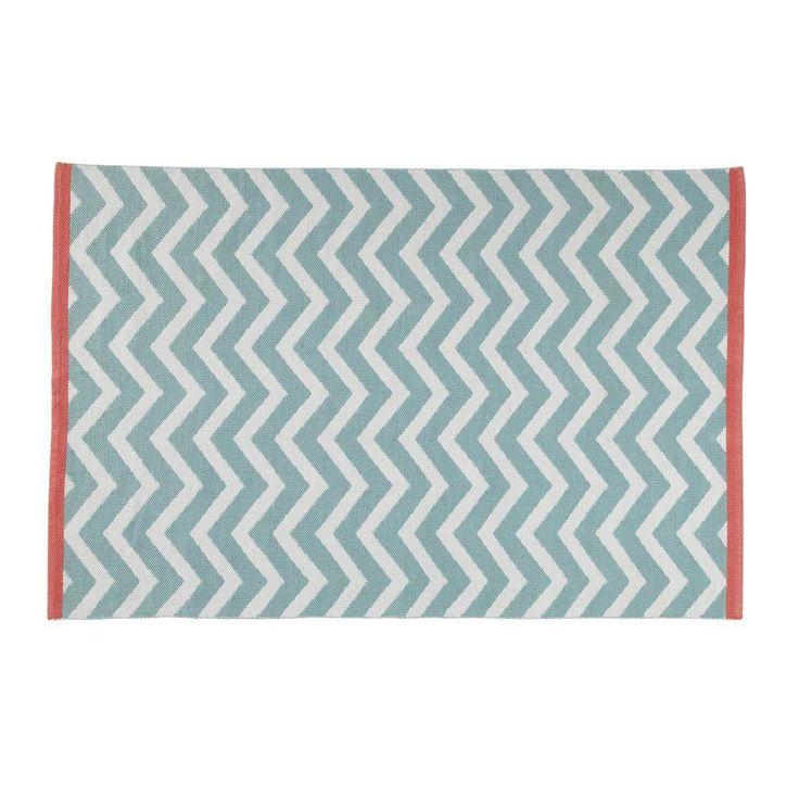 Kurzhaarteppich aus Baumwolle WAVE, 140 x 200 cm, wassergrün, 90eur 19 eur vers.