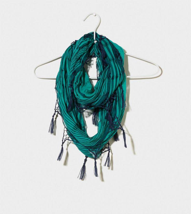 loop scarf scarfs and tassels on pinterest
