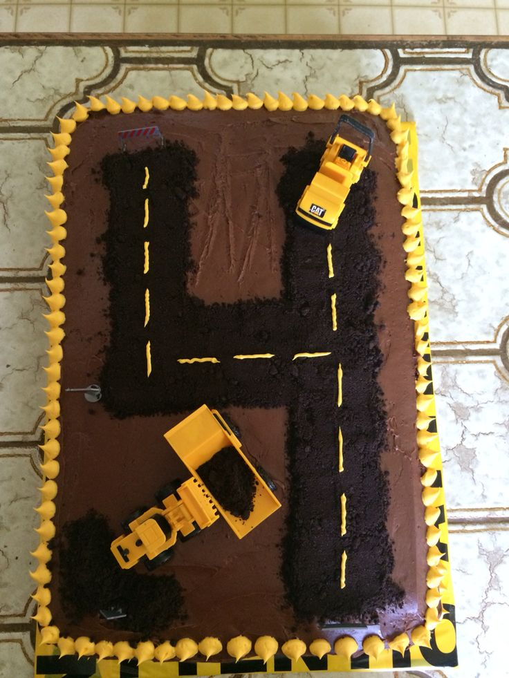 Construction truck birthday cake.