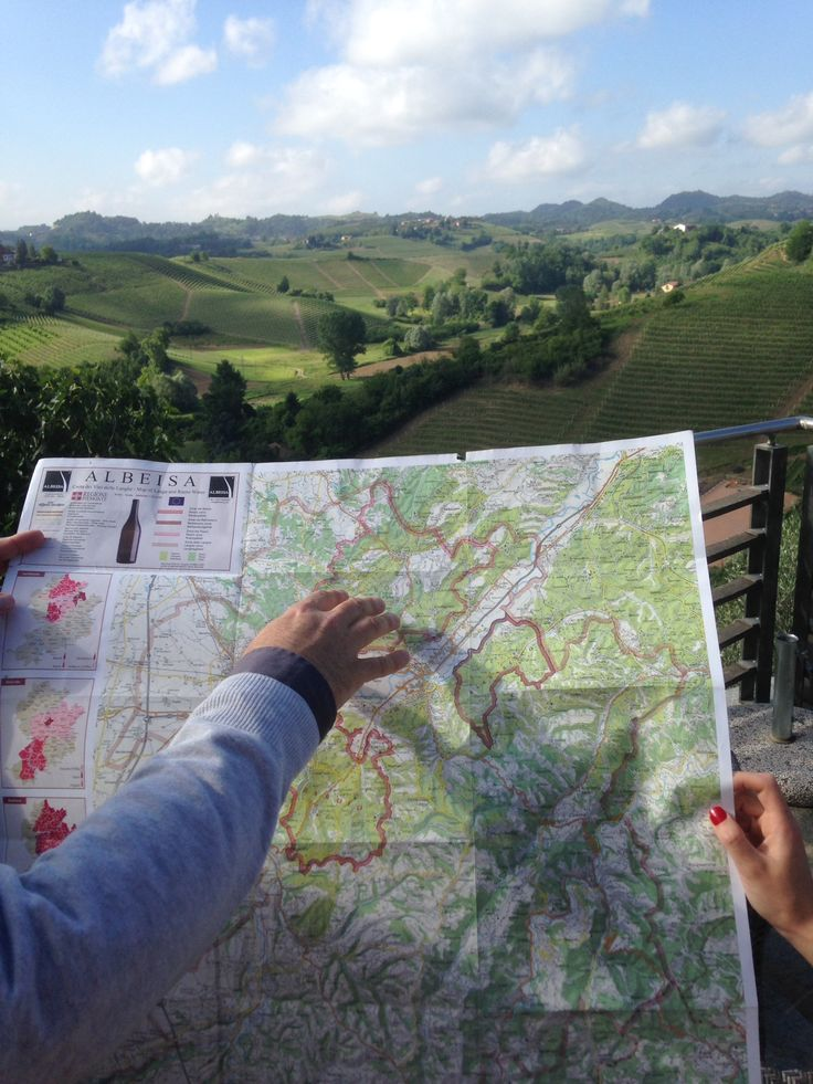 Scouting the route with our wine guide before entering the depths of Barolo country.
