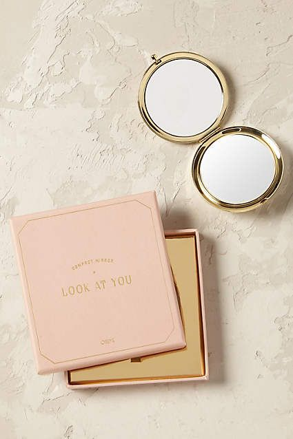 Anthropologie EU Goldie Compact Mirror by Odeme.