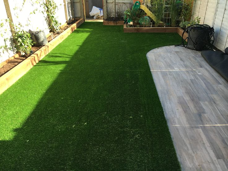 create a bit a style by adding a patio to your garden and keeping it fresh with green grass all year round