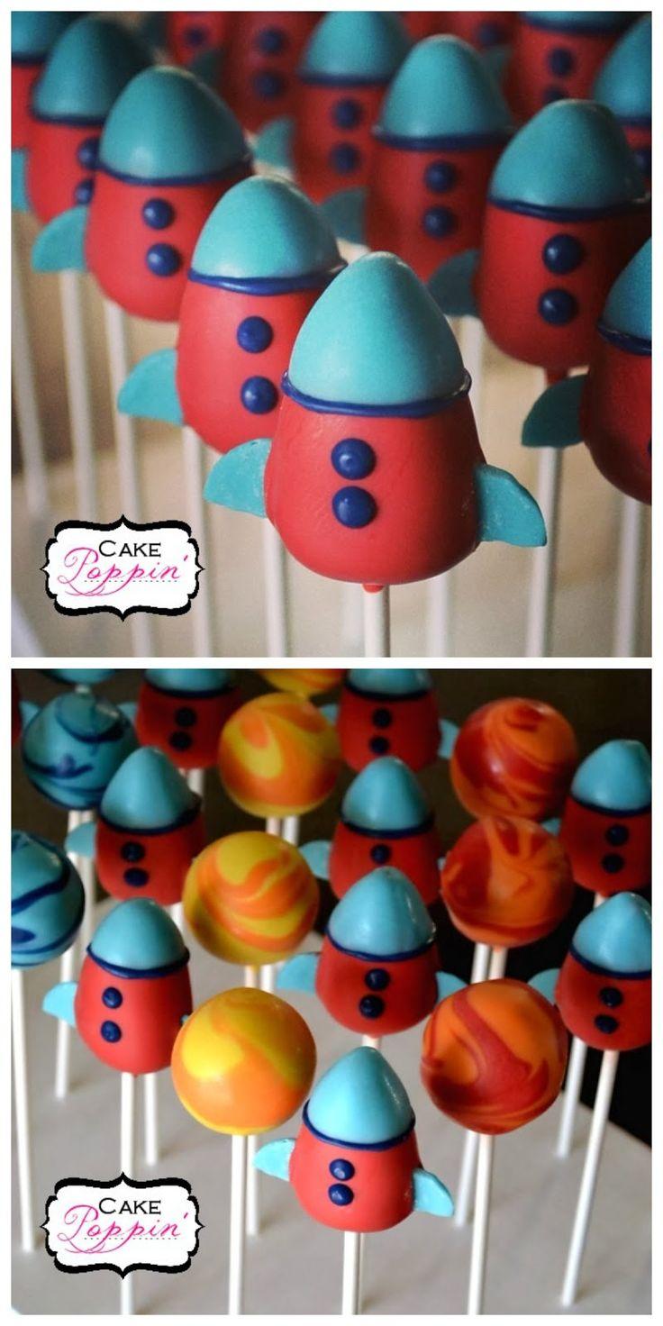 Erfahren Sie, wie Sie diese Rocket Ship Cake Pops machen! Sie sind nicht von dieser Welt!   – Cake Pops