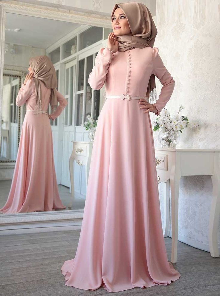 SARA DRESS -$126 Also available in the Colour Fuschia.     pink hijab dress_hijab gowns_pink hijab evening gownss_beautigul hijab dresses for fall_