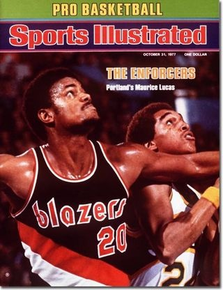Portland Trailblazers on the cover of Sports Illustrated.  RIP Maurice Lucas