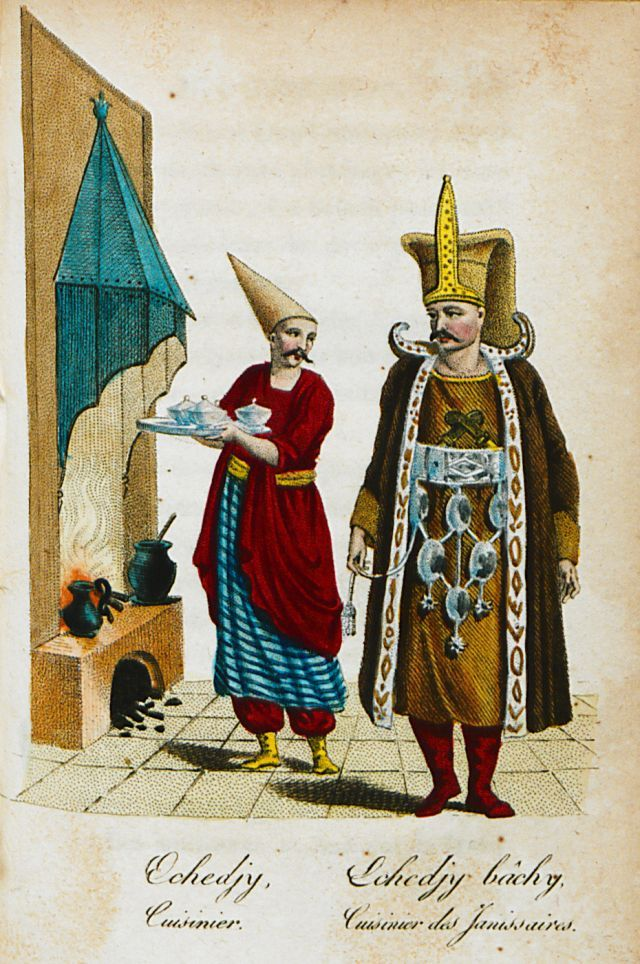 Ast-chi, a cook. Ast-chi bashi, head cook of the Janissary corps. - CASTELLAN, Antoine-Laurent - 1812