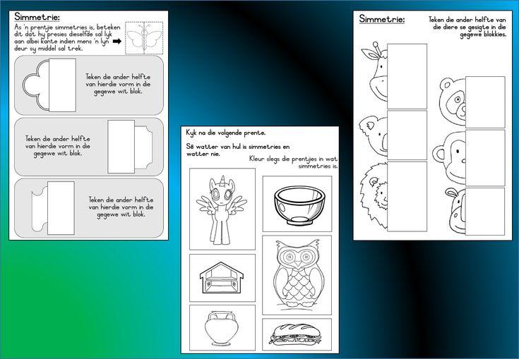 Grondslagfase aflaaibare Wiskunde Graad 3 werkkaart wat handel oor: Simmetrie. Prente herken en teken die ander helfde. Lekker speletjies en oefeninge.  Besoek gerus: https://teachingresources.co.za/vendors/komma-leer-en-leessentrum/