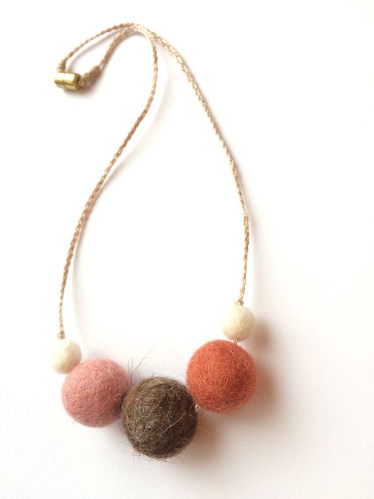 """18"""" Kid's Necklace, wool felt balls, essential oil diffuser by JoelleHochstedler on Etsy https://www.etsy.com/listing/264244252/18-kids-necklace-wool-felt-balls"""