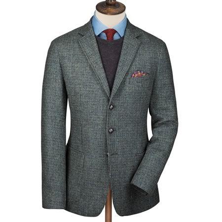 Sakko Slim Fit Pennines-Tweed meergrün   Herren Blazer & Sakkos von Charles Tyrwhitt aus der Jermyn Street in London