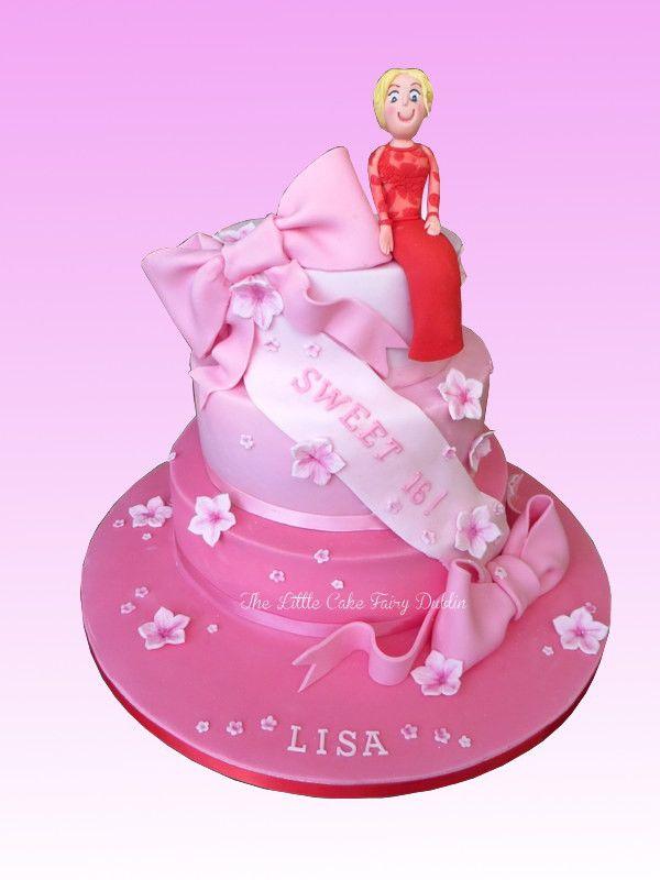 Pink Sweet 16th Cake  www.littlecakefairydublin.com www.facebook.com/littlecakefairydublin